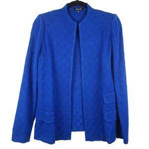 Misook Blue Open Cardigan Blazer Small